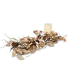 Gilded Age Metallic Berry & Branch Candle Holder Centerpiece, Created for Macy's