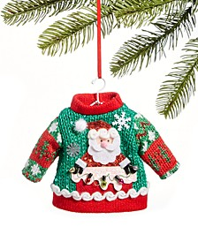 Santa's Favorites Green Ugly Christmas Sweater Ornament, Created for Macy's