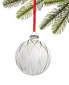 Shine Bright Silver Ball Ornament, Created for Macy's