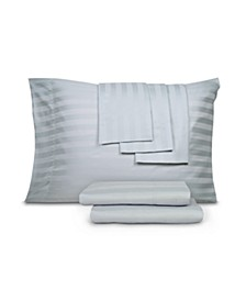 800 Thread Cotton Blend Cool Comfort Stripe Queen 6-Pc. Sheet Set