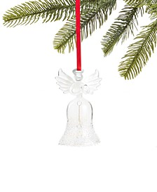 Snowdaze Glass Angel Bell Ornament, Created for Macy's
