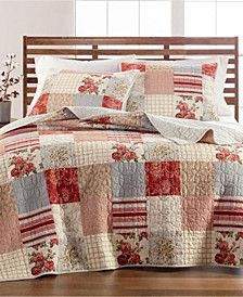 Farmstead Floral Patchwork King/Cal King Quilt, Created for Macy's
