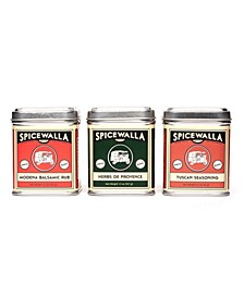 Mediterranean Spices Collection Big Tin 3 Pack Spice Blend Gift Set