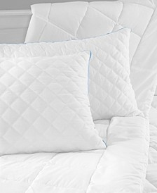 Hybrid Bed Pillow with Gel-Infused Memory Foam Clusters and Cooling Gel Beads