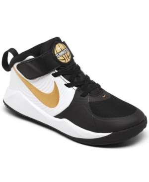 Nike Little boy's Team Hustle D 9 Stay-Put Closure Basketball Sneakers from Finish Line