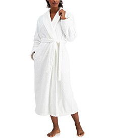 Long Floral Textured Cozy Robe, Created for Macy's