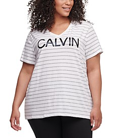 Plus Size Runway Striped Top