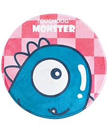 Cartoon Monster Rounded Cat and Dog Mat