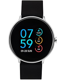 Men's Sport Black Silicone Strap Touchscreen Smart Watch 43.2mm