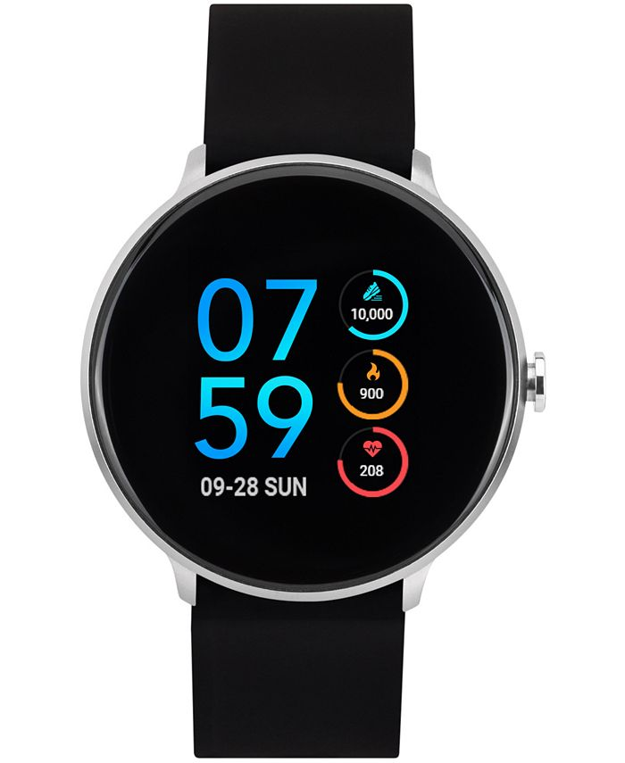 iTouch - Men's Sport Black Silicone Strap Touchscreen Smart Watch 43.2mm