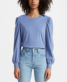 Flora Cotton Puff-Sleeve Top
