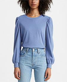 Levi's® Flora Cotton Puff-Sleeve Top