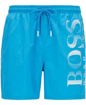 Boss Men's Octopus Logo-Print Swim Shorts