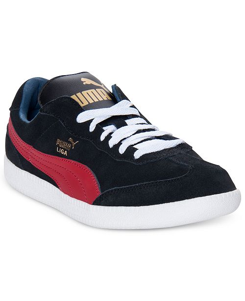 new product edb56 bd9c7 Puma Men's Liga Suede Classic Casual Sneakers from Finish ...