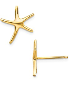 Starfish Stud Earrings in 14k Gold