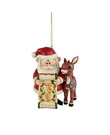 Rudolph & Santa With