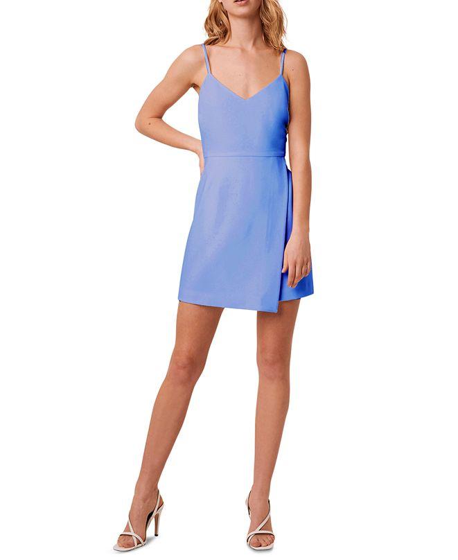 French Connection Whisper V-Neck Envelope-Skirt Dress