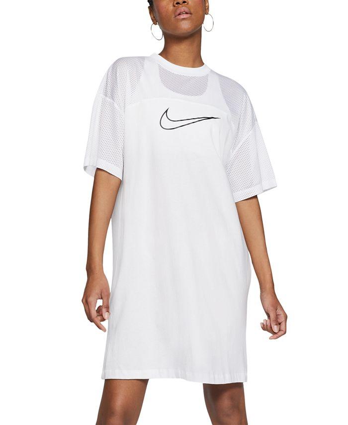 Nike - Sportswear Mesh-Panel Dress