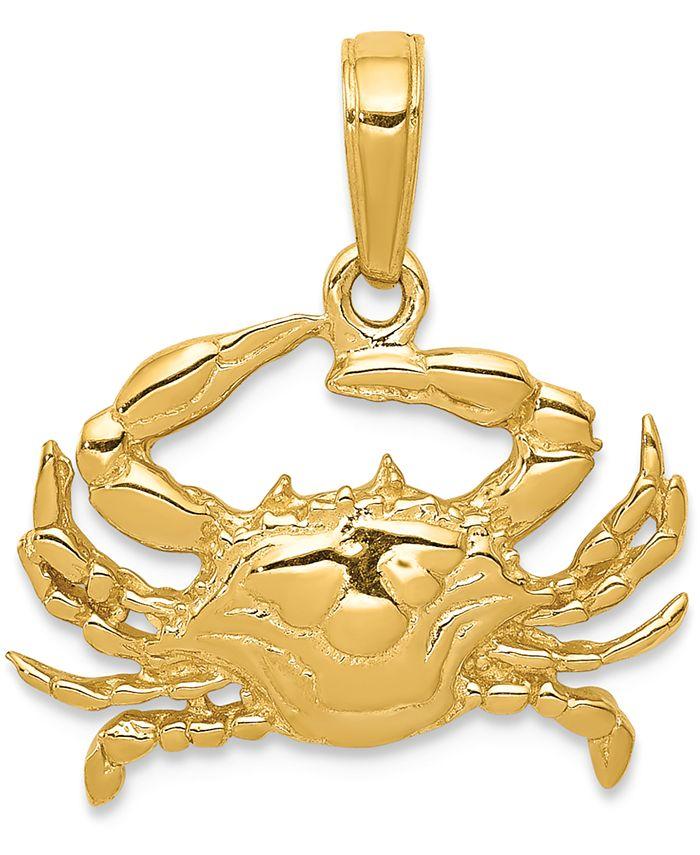 Macy's - Crab Charm Pendant in 14k Gold
