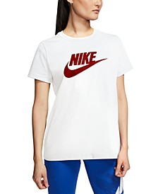 Women's Sportswear Cotton Logo T-Shirt