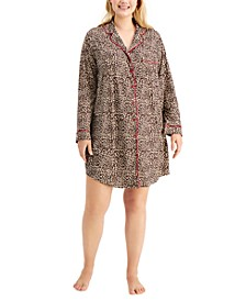 Plus Sueded Super Soft Knit Sleepshirt Nightgown, Created for Macy's