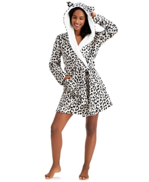 Hooded Short Cozy Robe