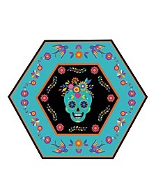 Day Of Dead Dinner Plate, Pack Of 16