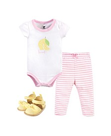 Boys and Girls Bodysuit, Pant and Shoe Set