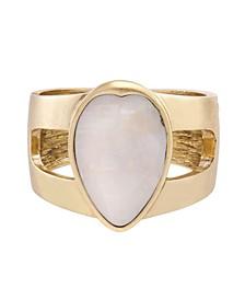 Mother of Pearl Teardrop Cuff Bracelet