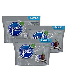 York Dark Chocolate Peppermint Patties Candy, 17.3 oz, 3 Pack