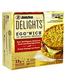 Delights Egg'Wich Breakfast Frittatas, 8 Count
