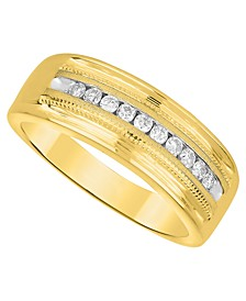 Men's Diamond (1/2 ct. t.w.) Ring in White or Yellow Gold