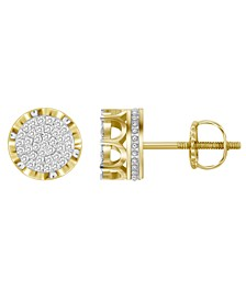 Men's Diamond (1/6 ct.t.w.) Earring Set in 10k Yellow Gold