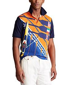 Men's Classic-Fit Mesh Rowing Polo Shirt