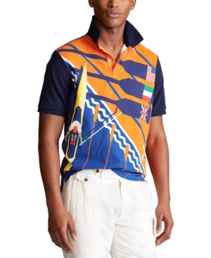 Polo Ralph Lauren Men's Classic-Fit Mesh Rowing Polo Shirt