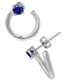 Cubic Zirconia Front & Back Hoop Earrings, Created for Macy's