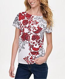 Printed-Front T-Shirt, Created for Macy's