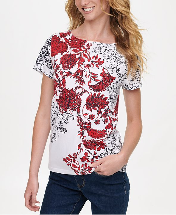 Tommy Hilfiger Printed-Front T-Shirt, Created for Macy's