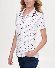 Dot-Print Polo Shirt, Created for Macy's