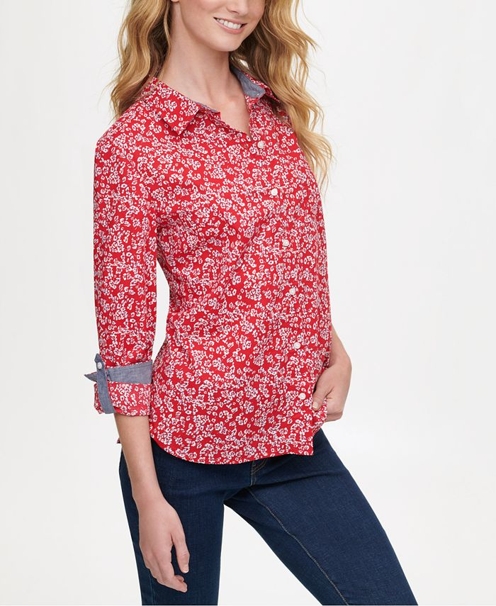 Tommy Hilfiger - Printed Button-Up Shirt