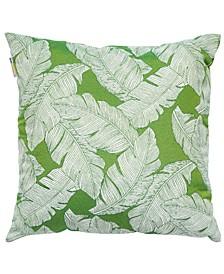 "Palm Leaf 22"" x 22"" Outdoor Decorative Pillow"