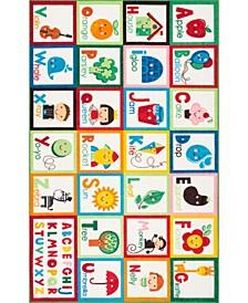 """Alphabet Block MCGZ08A Multi 6'7"""" x 9' Area Rug"""