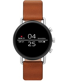 Falster 2 Brown Leather Strap Touchscreen Smart Watch 40mm, Powered by Wear OS by Google™
