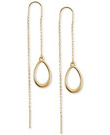 Gold-Tone Teardrop Threader Earrings