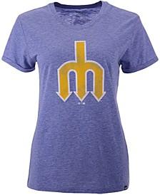 Women's Seattle Mariners Throwback Match Tri-blend Hero T-Shirt