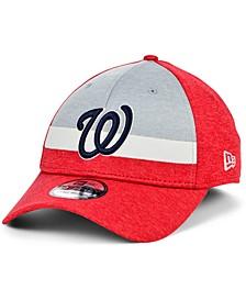 Washington Nationals Youth Striped Shadow Tech 39THIRTY Cap