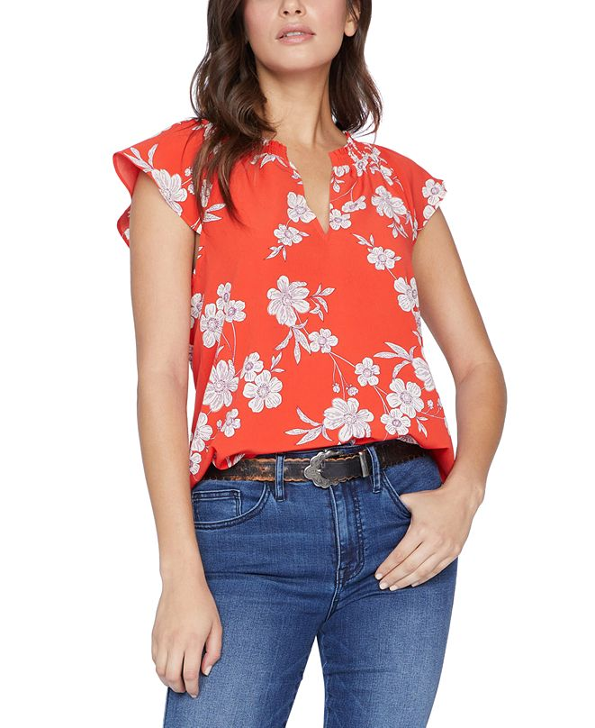 Sanctuary Garden-Print Top