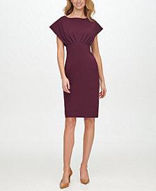 Calvin Klein Scuba-Crepe Empire-Waist Sheath Dress
