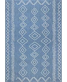 """Serna OWDN23B Blue 6'3"""" x 9'2"""" Area Rug"""
