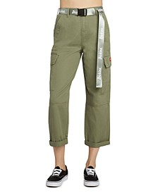 Juniors' Belted Cargo Capri Pants